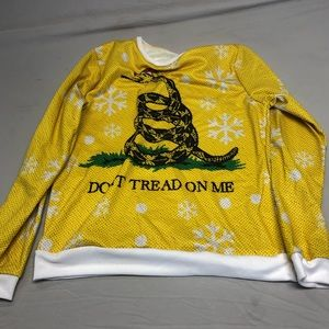 Don't Tread on Me Holiday Sweater M